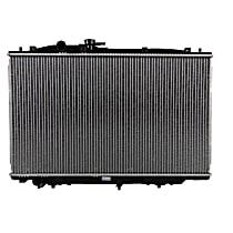 Aluminum Core Plastic Tank Radiator, 16.75 x 28.25 x 0.94 in. Core Size