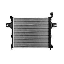 Aluminum Core Plastic Tank Radiator, 23.25 x 20 x 1.25 in. Core Size