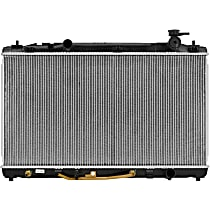 Aluminum Core Plastic Tank Radiator, 15.75 x 28.75 x 0.63 in. Core Size