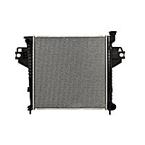 Aluminum Core Plastic Tank Radiator, 20 x 20 x 1.13 in. Core Size