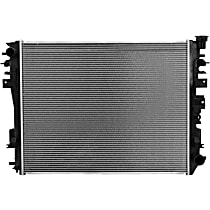Aluminum Core Plastic Tank Radiator, 27.50 x 21.56 x 1.25 in. Core Size