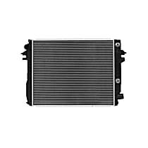 Aluminum Core Plastic Tank Radiator, 26.63 x 21.56 x 1.63 in. Core Size
