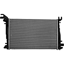 Aluminum Core Plastic Tank Radiator, 25.56 x 16 x 0.88 in. Core Size