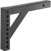 17122 Hitch Ball Mount - Powdercoated Black, Steel, Universal, Sold individually