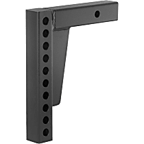 17123 Hitch Ball Mount - Powdercoated Black, Steel, Universal, Sold individually