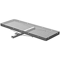 18100 Cargo Carrier - Powdercoated Black, Aluminum, Cargo, Hitch, Universal, Sold individually