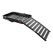Cargo Carrier - Powdercoated Black, Aluminum And Stainless Steel, Direct Fit, Sold individually