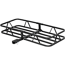 Cargo Carrier - Powdercoated Black, Steel, Basket, Hitch, Universal, Sold individually