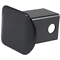Hitch Cover - Black, Plastic, Sold individually