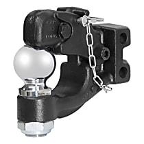 45920 Pintle Hook - Powdercoated Black, Universal, Kit