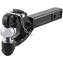 48006 Pintle Hook - Powdercoated Black, Universal, Kit