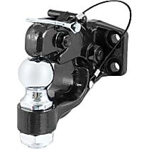 48190 Pintle Hook - Powdercoated Black, Universal, Kit