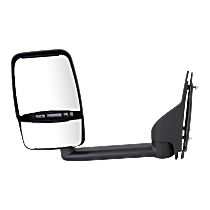 Mirror - Driver Side, Towing, Textured Black, With Blind Spot Glass, Dual Glass