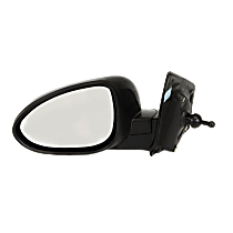 Mirror Non-Heated - Driver Side, Manual Remote Glass, Paintable