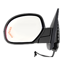 Mirror - Driver Side, Power, Heated, Power Folding, With Paintable and Textured Black Caps, Turn Signal, Memory & Puddle Lamp