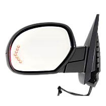 Mirror Power Folding Heated - Driver Side, Power Glass, In-glass Signal Light, 2 Caps - Paintable & Textured Black