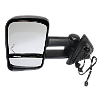 Towing Mirror Heated - Driver Side, Power Glass, With Blind Spot Corner Glass, Textured Black