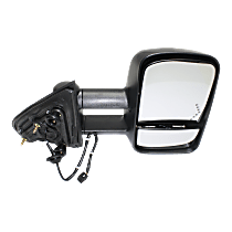 Towing Mirror Heated - Passenger Side, Power Glass, With Blind Spot Corner Glass, Textured Black