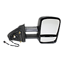 Mirror - Passenger Side, Towing, Power, Heated, Folding, Textured Black, With Blind Spot Glass, Trailer Tow Type