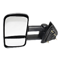 Towing Mirror Non-Heated - Driver Side, Manual Glass, With Blind Spot Corner Glass, Textured Black