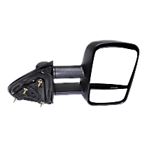 Towing Mirror Non-Heated - Passenger Side, Manual Glass, With Blind Spot Corner Glass, Textured Black