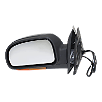 Mirror - Driver Side, Power, Heated, Folding, Textured Black, With Turn Signal (Clear)