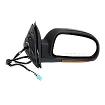 Mirror - Passenger Side, Power, Heated, Folding, Textured Black, With Turn Signal (Clear)