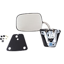 Mirror Manual Folding - Driver or Passenger Side, Manual Glass, Chrome