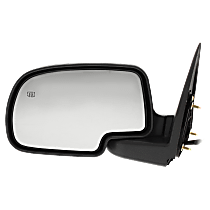 Mirror - Driver Side, Power, Heated, Folding, Textured Black With Puddle Lamp