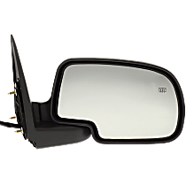 Mirror - Passenger Side, Power, Heated, Folding, Textured Black With Puddle Lamp