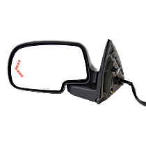 Mirror - Driver Side, Power, Heated, Folding, With Paintable and Textured Black Caps, With Turn Signal and Puddle Lamp