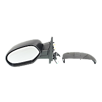 Mirror - Driver Side, Power, Heated, Folding, With Paintable and Textured Black Caps