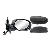 Mirror - Passenger Side, Power, Heated, Folding, With Paintable and Textured Black Caps