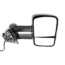 Towing Mirror Manual Folding Heated - Passenger Side, Power Glass,With Blind Spot Corner Glass, Textured Black