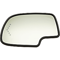 Driver Side Auto Dimming Mirror Glass, Heated, With Turn Signal and Backer Plate