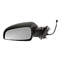 Mirror - Driver Side, Power, Textured Black, 2008-2012 Style
