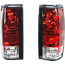 Driver and Passenger Side Tail Light, Without bulb(s) - Clear Lens, Chrome Interior
