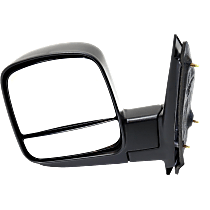 Mirror Non-Heated - Driver Side, Manual Glass, With Blind Spot Corner Glass, Textured Black