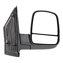 Mirror Non-Heated - Passenger Side, Manual Glass, With Blind Spot Corner Glass, Textured Black
