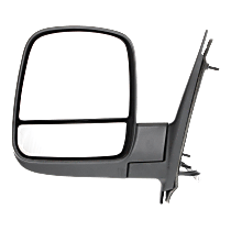 Mirror Heated - Driver Side, Power Glass, With Blind Spot Corner Glass, Textured Black