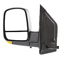 Mirror - Driver Side, Power, Heated, Folding, Textured Black, With Turn Signal, Blind Spot Glass