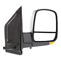 Mirror - Passenger Side, Power, Heated, Folding, Textured Black, With Turn Signal, Blind Spot Glass