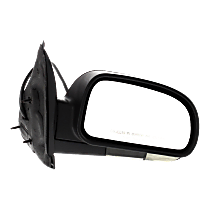 Mirror - Passenger Side, Power, Heated, Power Folding, Textured Black, Clear Turn Signal