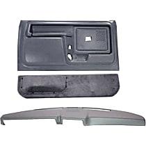 12-108CW-LGR Interior Restoration Kit - Gray, ABS Plastic, Dash Cap, Door Panel, Kick Panel, Direct Fit, Kit