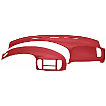 12-974C975-RD Interior Restoration Kit - Red, ABS Plastic, Dash Cap, Instrument Panel Cover, Direct Fit, Kit
