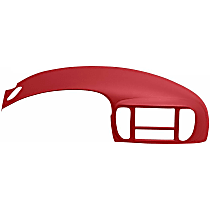 12-975ic-RD Cap Instrument Panel Cover - Red, ABS Plastic, Sold individually