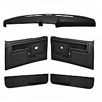 Coverlay 12-108CF-BLK Interior Restoration Kit - Black, ABS Plastic, Dash Cap, Door Panel, Kick Panel, Direct Fit, Kit