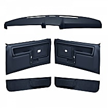 Coverlay 12-108CF-DBL Interior Restoration Kit - Blue, ABS Plastic, Dash Cap, Door Panel, Kick Panel, Direct Fit, Kit