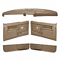 Coverlay 12-108CF-LBR Interior Restoration Kit - Brown, ABS Plastic, Dash Cap, Door Panel, Kick Panel, Direct Fit, Kit