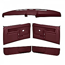Coverlay 12-108CF-MR Interior Restoration Kit - Maroon, ABS Plastic, Dash Cap, Door Panel, Kick Panel, Direct Fit, Kit